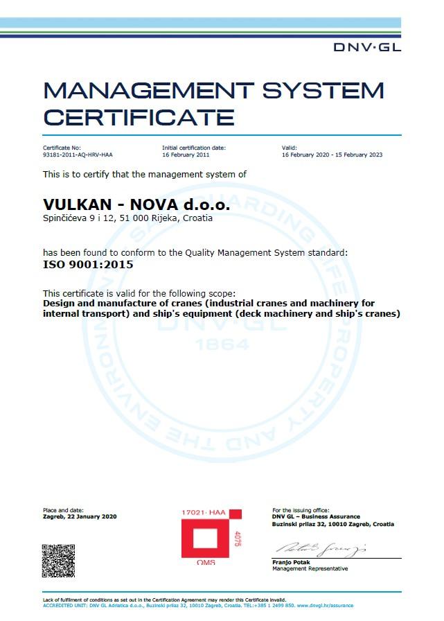 ISO9001-DNV-certificate